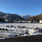 越後湯沢の晩秋から初冬の風景